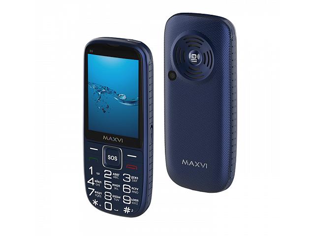 Сотовый телефон Maxvi B9 Blue мобильный телефон maxvi b9 black