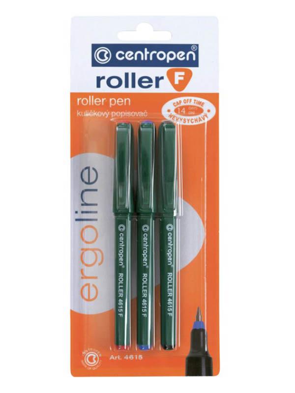 Ручки-роллеры Centropen 0.5/0.3mm 3 цвета Green 3 4615 0302