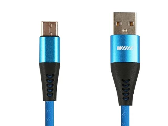 Фото - Аксессуар WIIIX USB - Type-C 1m Blue CB720-UTC-2A-10BU аксессуар wiiix type c red cb300 utc 2a 10r