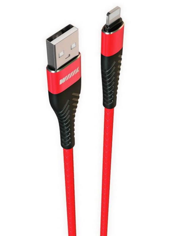 Фото - Аксессуар WIIIX USB - Lightning 1m Red CB720-U8-2A-10R аксессуар wiiix type c red cb300 utc 2a 10r