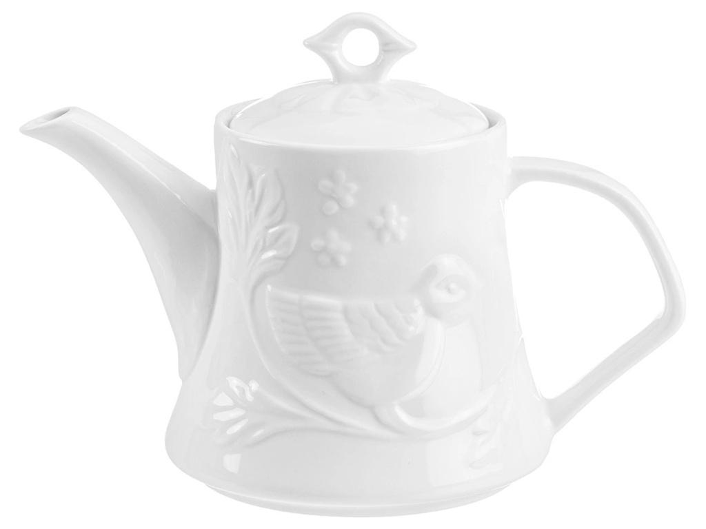 Заварочный чайник Elan Gallery Птички на ветке 1.1L 540216 elan gallery кружка птички на ветке 350 мл белый