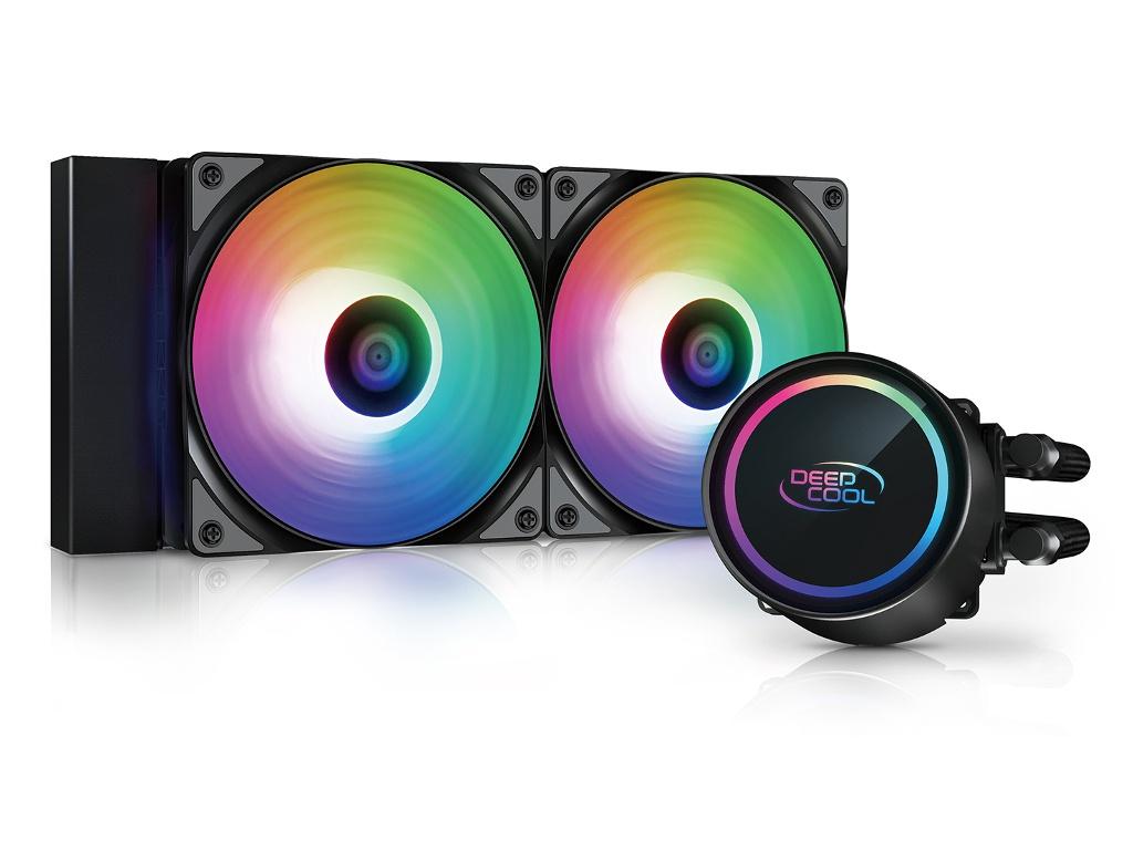 Водяное охлаждение DeepCool Gammaxx L240 A-RGB (Intel LGA2066/LGA1366/LGA1200/LGA2011/LGA1150 / AMD AM4/AM3+/AM3/AM2+/AM2/FM2+/FM2/)
