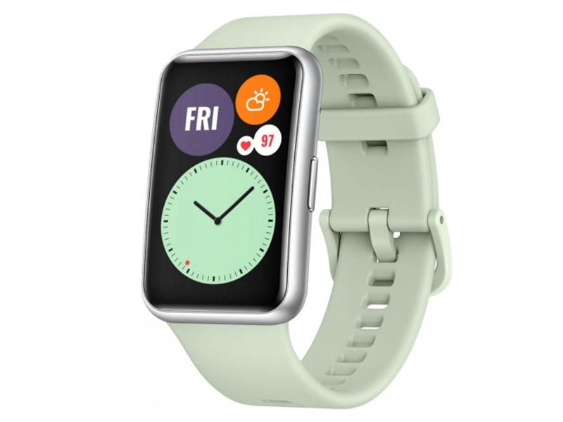 Умные часы Huawei Watch Fit TIA-B09 Mint Green 55025870 Выгодный набор + серт. 200Р!!! умные часы huawei watch gt 2e hector b19c 46mm black mint 55025294 выгодный набор серт 200р