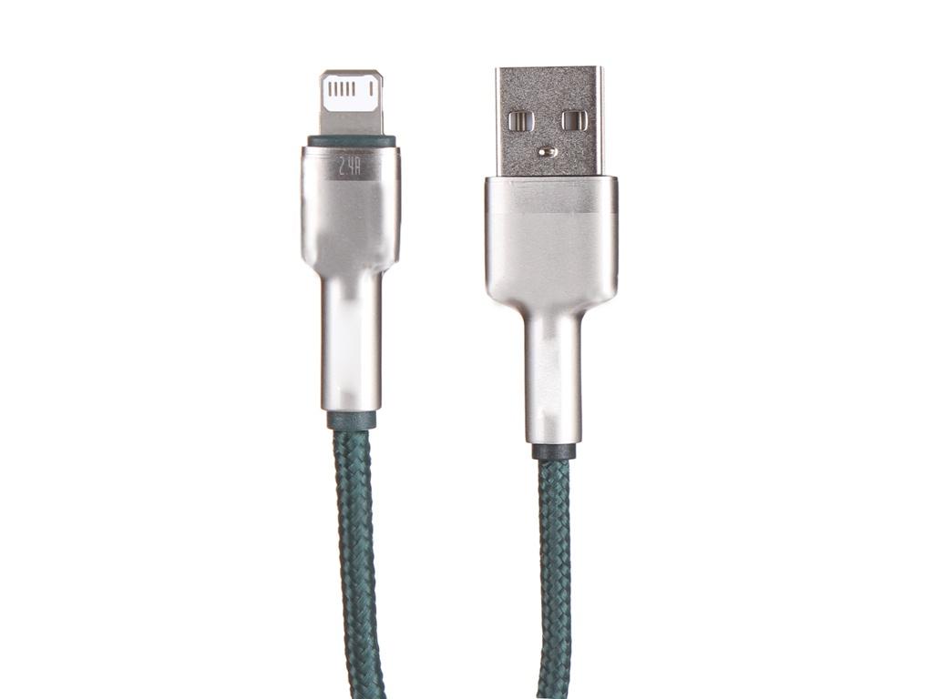 Фото - Аксессуар Baseus Cafule USB - Lightning 1m Green CALJK-A06 аксессуар baseus glowing usb lightning blaсk callg 01