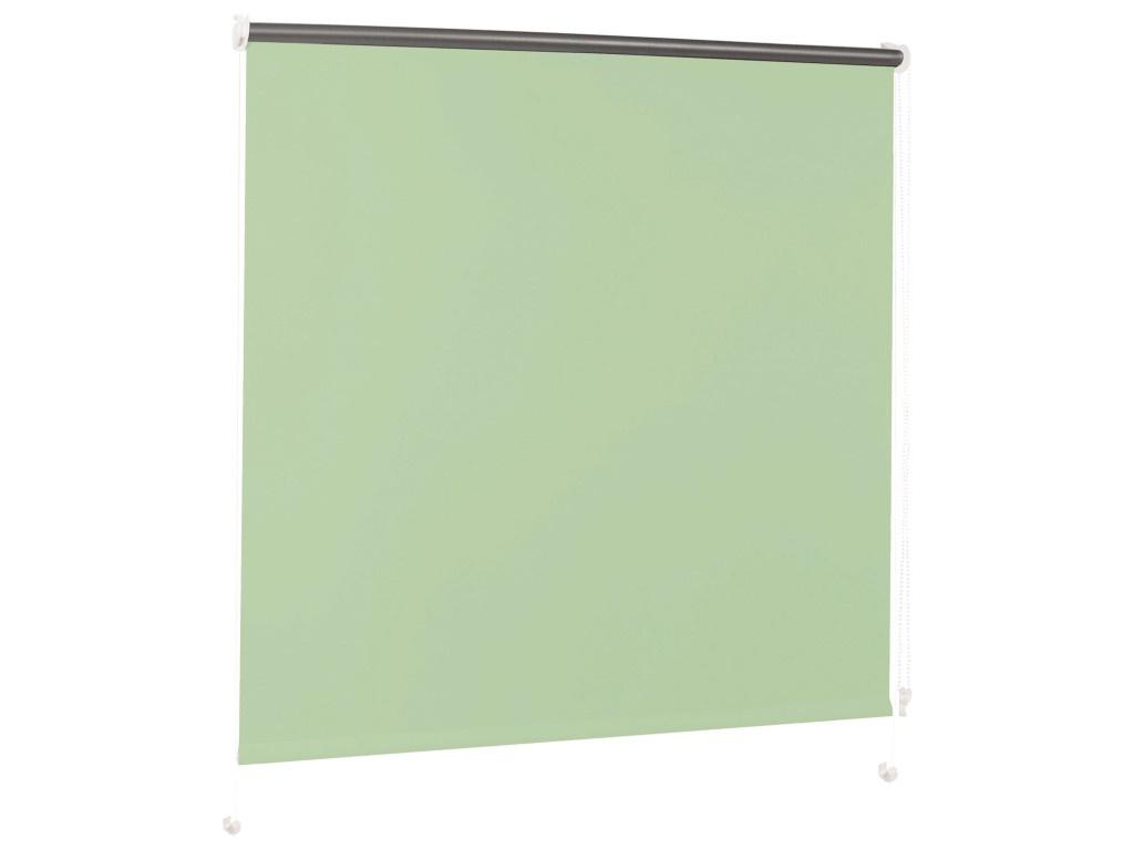 Штора рулонная Brabix 50x175cm Light Green-Silver 606006