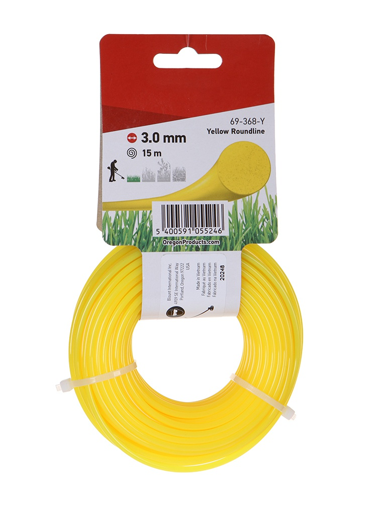Леска Oregon 3.0mm x 15m Yellow 69-368-Y