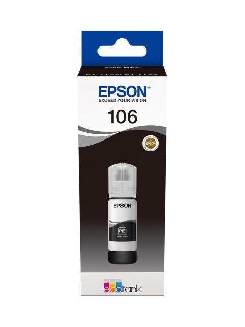 Чернила Epson C13T00R140 70ml Black для L7160/L7180