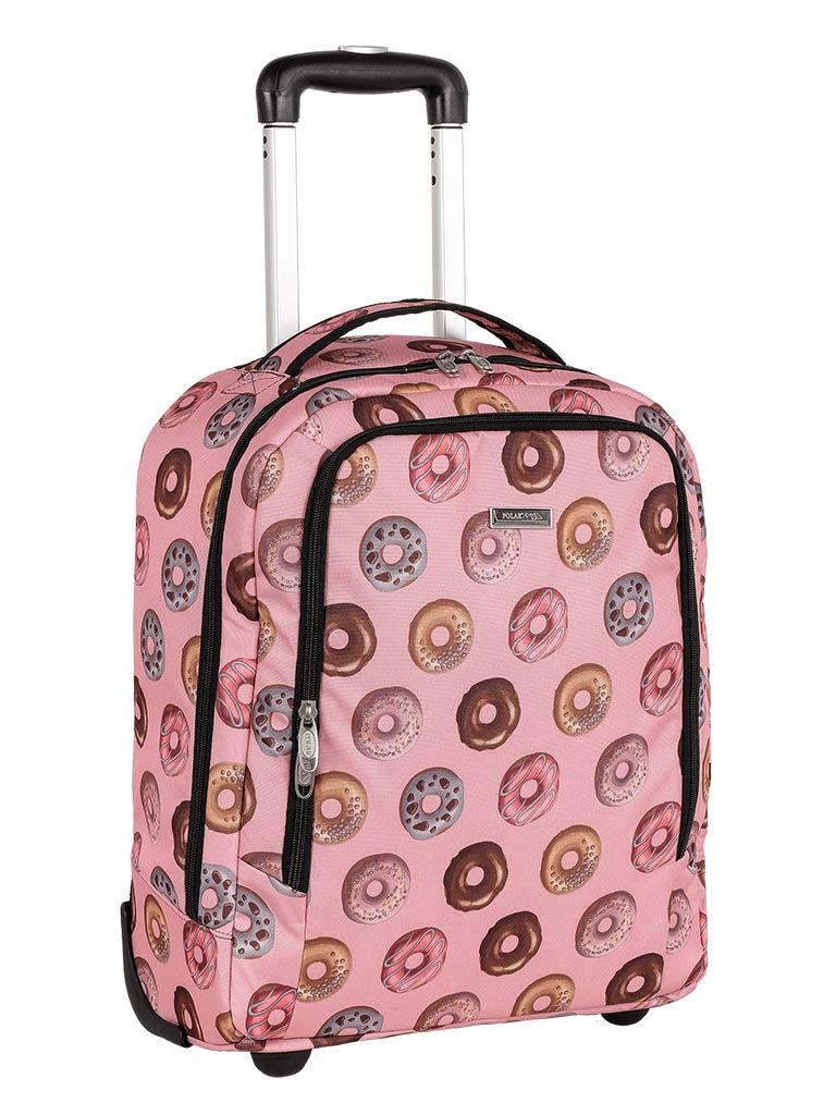 Чемодан Polar П7121 Пончики Pink