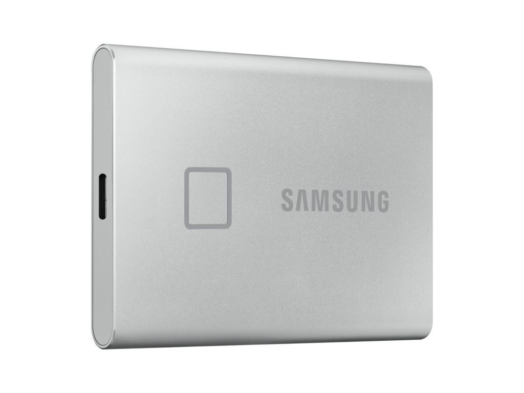 Фото - Твердотельный накопитель Samsung External SSD 1Tb T7 Touch PCIe USB3.2/Type-C Silver MU-PC1T0S/WW Выгодный набор + серт. 200Р!!! samsung t5 1tb mu pa1t0r ww красный