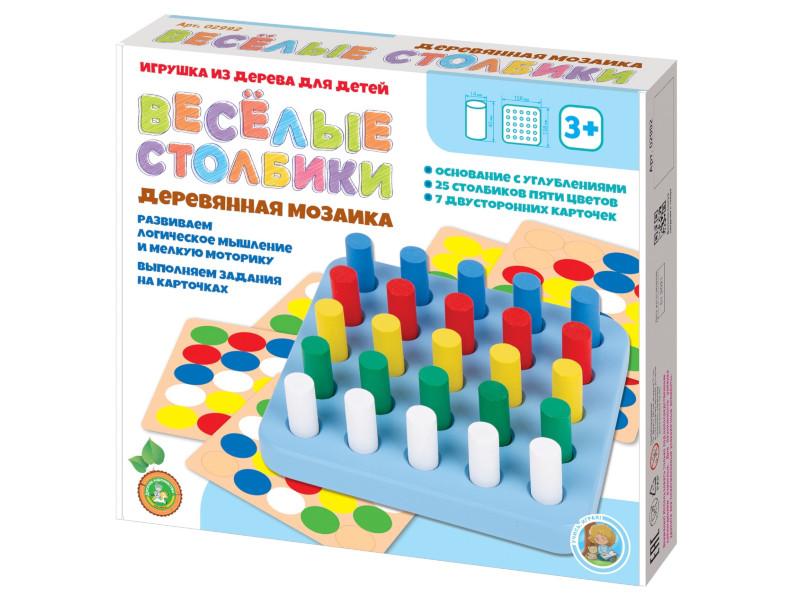Настольная игра Десятое Королевство Мозаика Веселые столбики 25 элементов 02992