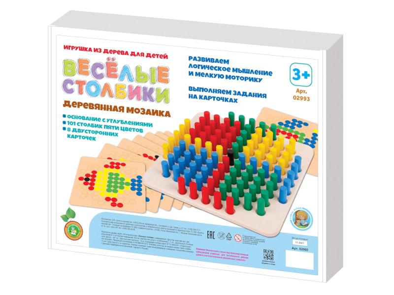 Настольная игра Десятое Королевство Мозаика Веселые столбики 101 элемент 02993