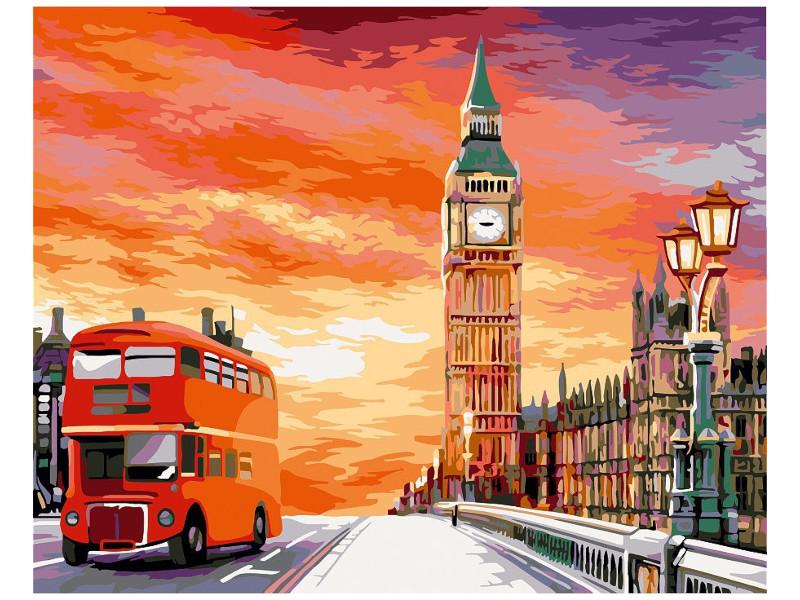 Картина по номерам Greenwich Line Лондонский закат 40x50cm КХ_39223