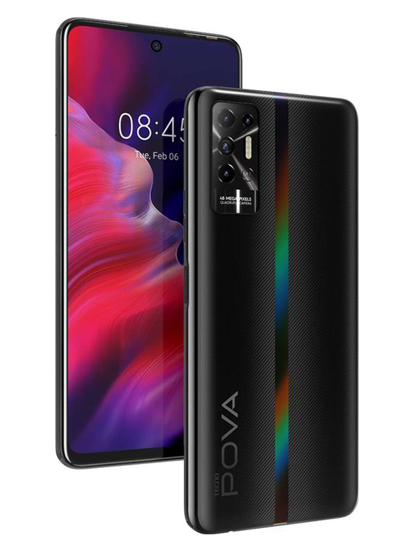 Сотовый телефон Tecno Pova 2 4/128Gb Dazzle Black сотовый телефон vsmart joy 3 4 64gb purple topaz