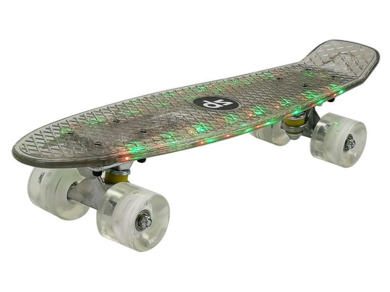 Скейт DS 22 LED Transparent