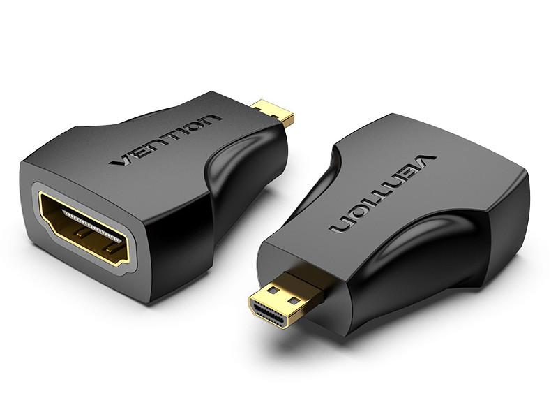 Аксессуар Vention HDMI 19F - MicroHDMI 19M AITB0