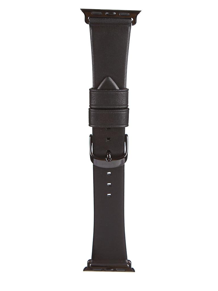 Аксессуар Ремешок Nomad для APPLE Watch 40mm/38mm Modern Slim Leather Strap Black-Black NM10J1B000
