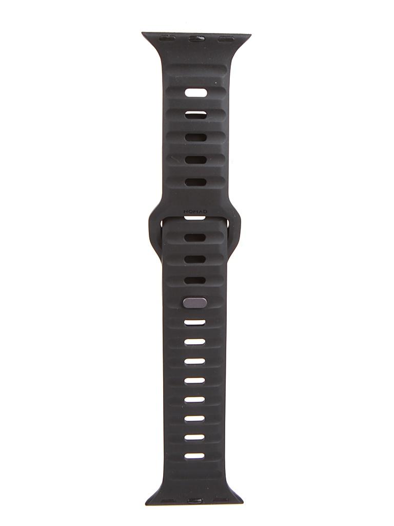 Аксессуар Ремешок Nomad для APPLE Watch 44mm/42mm Sport Strap V2 Black NM1AM10000 ремешок для смарт часов nomad traditional strap для apple watch 44mm 42mm коричневый