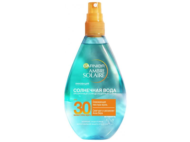 Спрей солнцезащитный Garnier Ambre Solaire Солнечная вода 150ml SPF30/C5944400