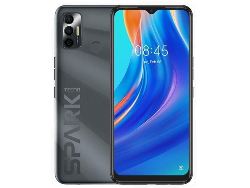 Сотовый телефон TECNO Spark 7 4/64GB Magnet Black сотовый телефон tecno spark 6 go 2 32gb mystery white