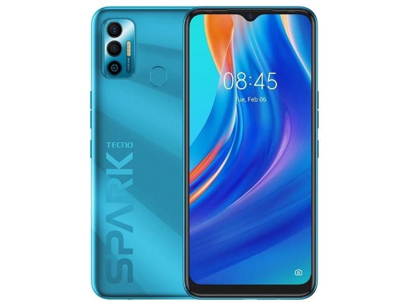 Сотовый телефон Tecno Spark 7 4/128Gb Morpheus Blue сотовый телефон tecno spark 6 go 2 32gb mystery white
