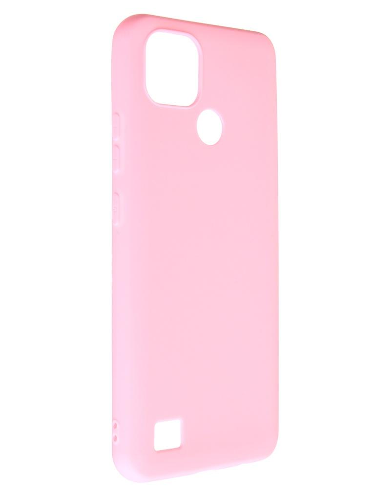 Фото - Чехол Zibelino для Realme C21 Soft Matte Pink ZSM-RLM-C21-PNK чехол zibelino для realme c11 soft matte blu zsm rlm c11 blu