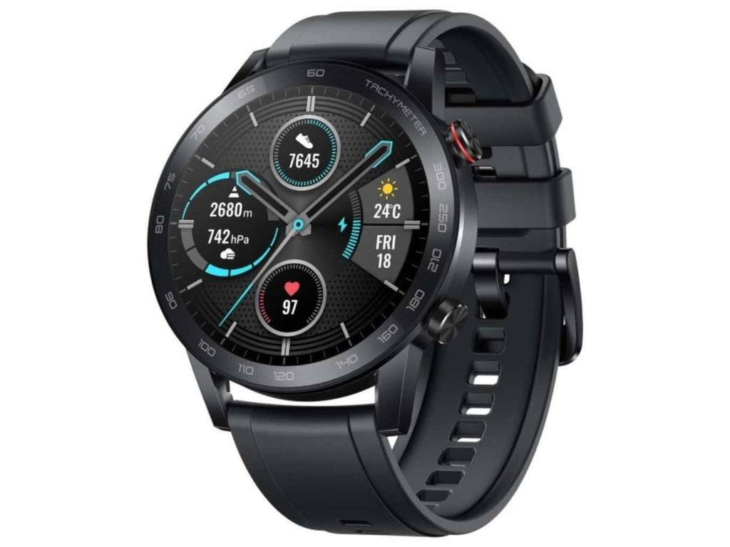 Умные часы Honor Magic 2 46mm Black MNS-B39 55026748 Выгодный набор + серт. 200Р!!! умные часы huawei watch gt 2e hector b19c 46mm black mint 55025294 выгодный набор серт 200р