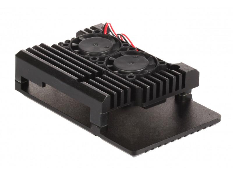 Корпус Qumo RS038 для Raspberry Pi 3 Aluminum Case with Fans Black
