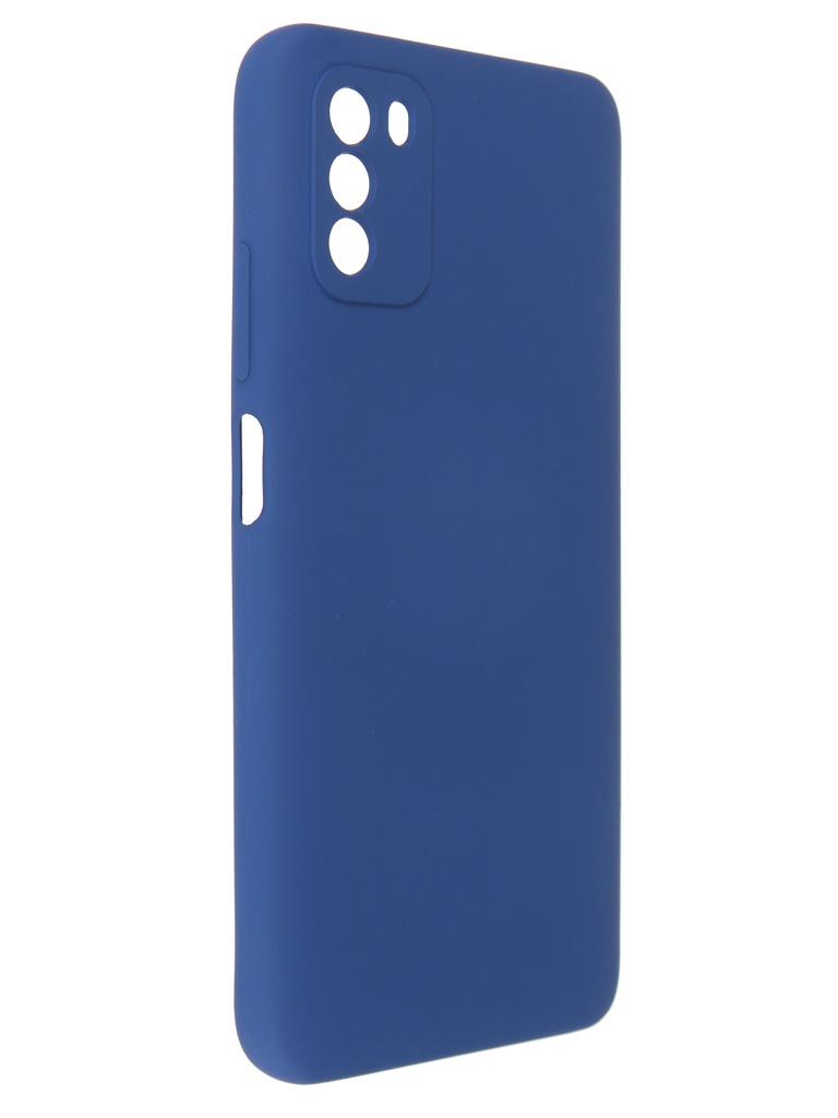 Чехол Pero для Poco M3 Liquid Silicone Blue PCLS-0055-BL