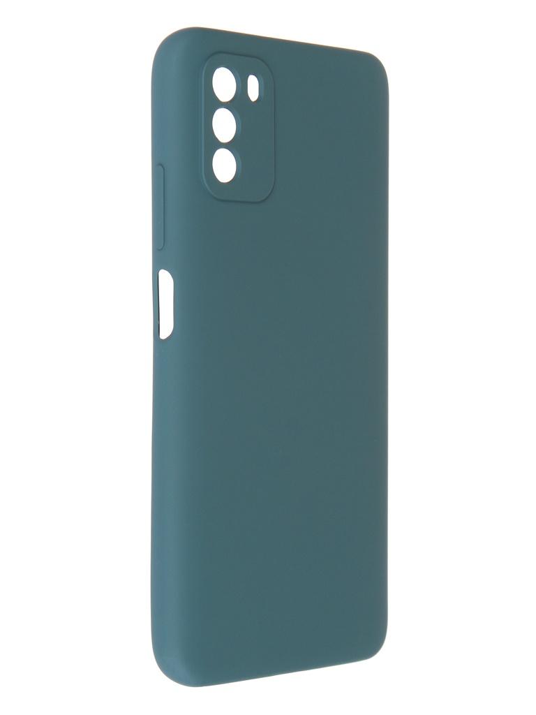 Чехол Pero для Poco M3 Liquid Silicone Dark Green PCLS-0055-NG