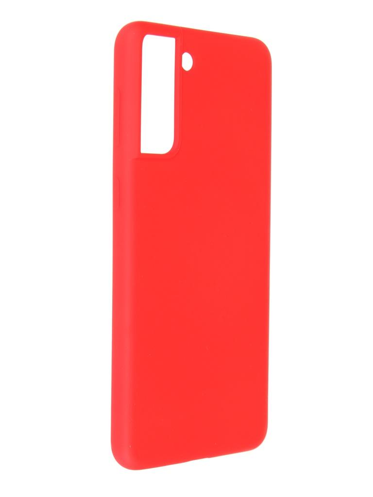 Фото - Чехол Pero для Samsung Galaxy S21 Plus Liquid Silicone Red PCLS-0039-RD чехол pero для samsung s21 plus liquid silicone yellow pcls 0039 yw