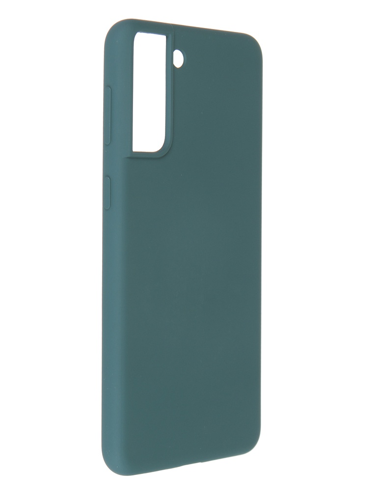 Фото - Чехол Pero для Samsung Galaxy S21 Plus Liquid Silicone Dark Green PCLS-0039-NG чехол pero для samsung s21 plus liquid silicone yellow pcls 0039 yw
