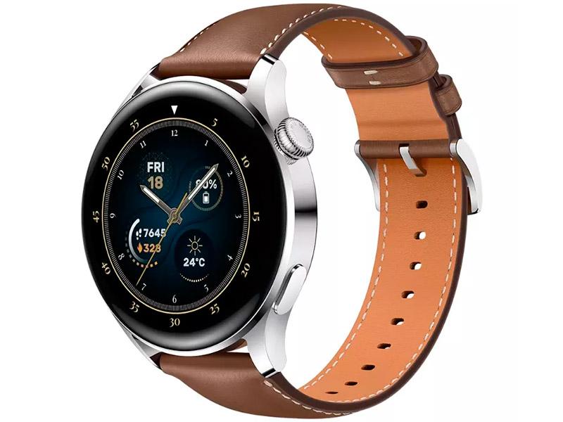Умные часы Huawei Watch 3 Galileo-L21E Steele-Brown Leather Strap 55026813