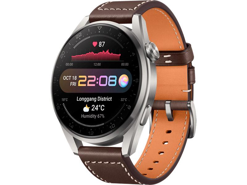 Умные часы Huawei Watch 3 Pro Galileo-L40E Titan Grey-Brown Leather Strap 55026811