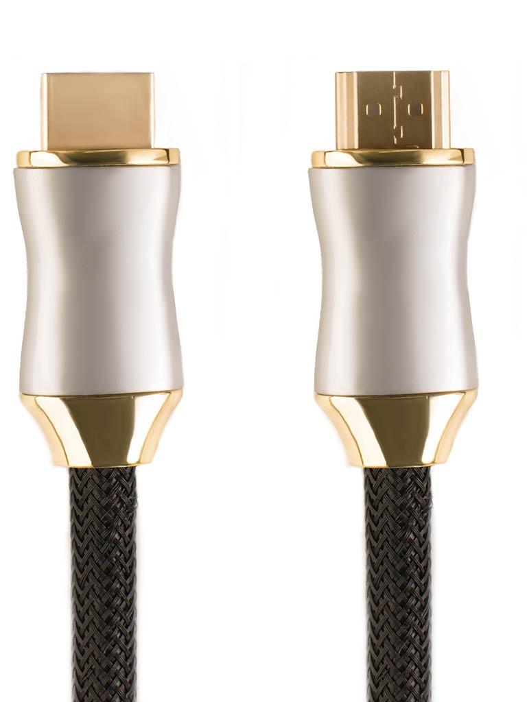 Фото - Аксессуар GCR Delux HDMI 2.0 50cm Black-Gold GCR-51278 аксессуар gcr hdmi m m v1 4 10m black gcr hm411 10 0m