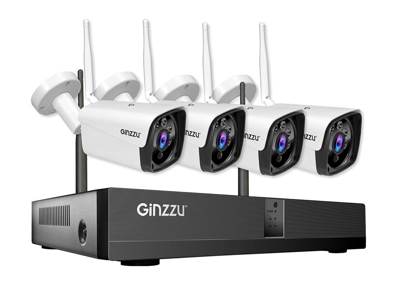 Комплект видеонаблюдения Ginzzu HK-8401W