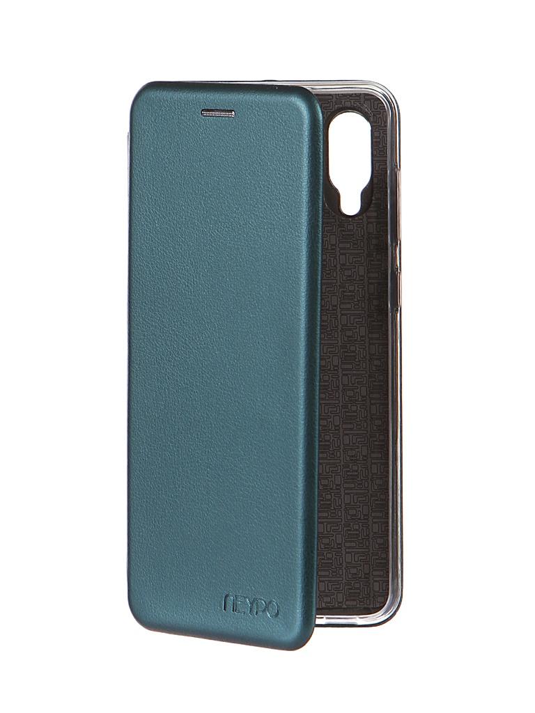 Чехол Neypo для Samsung A02 (2021) Premium Dark Green NSB21733