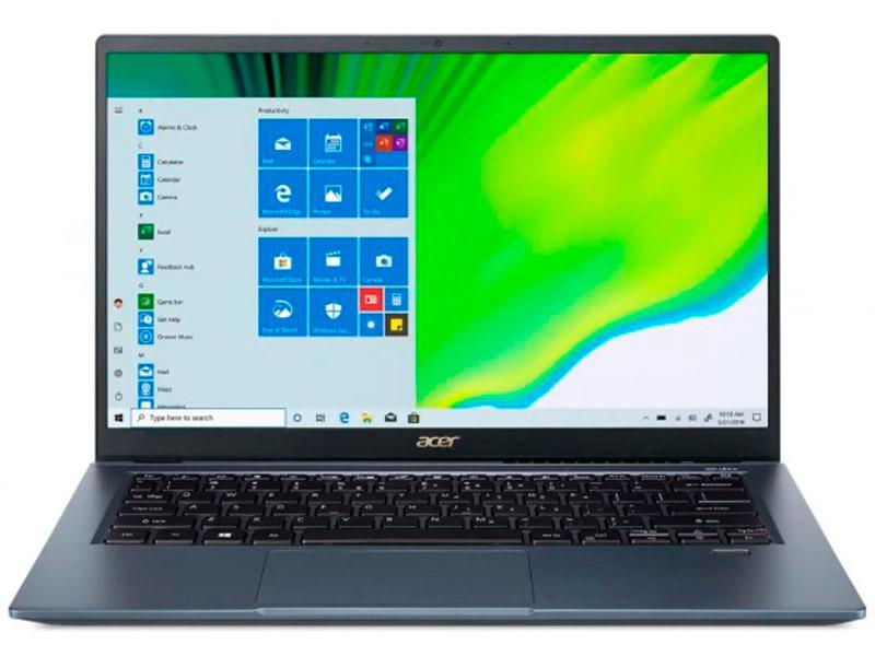 Ноутбук Acer Swift 3X Blue SF314-510G-782K NX.A0YER.008 (Intel Core i7 1165G7 2.8 GHz/16384Mb/512Gb SSD/Intel Iris Xe Max 4096Mb/Wi-Fi/Bluetooth/Cam/14/1920x1080/Windows 10) ультрабук acer swift 3x sf314 510g 7734 14 ips intel core i7 1165g7 2 8ггц 16гб 1тб ssd intel iris xe max 4096 мб windows 10 nx a0yer 007 синий