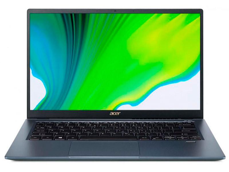 Ноутбук Acer Swift 3X Blue SF314-510G-745A NX.A0YER.003 (Intel Core i7 1165G7 2.8 GHz/16384Mb/1Tb SSD/Intel Iris Xe Max 4096Mb/Wi-Fi/Bluetooth/Cam/14/1920x1080/Eshell) ультрабук acer swift 3x sf314 510g 7734 14 ips intel core i7 1165g7 2 8ггц 16гб 1тб ssd intel iris xe max 4096 мб windows 10 nx a0yer 007 синий