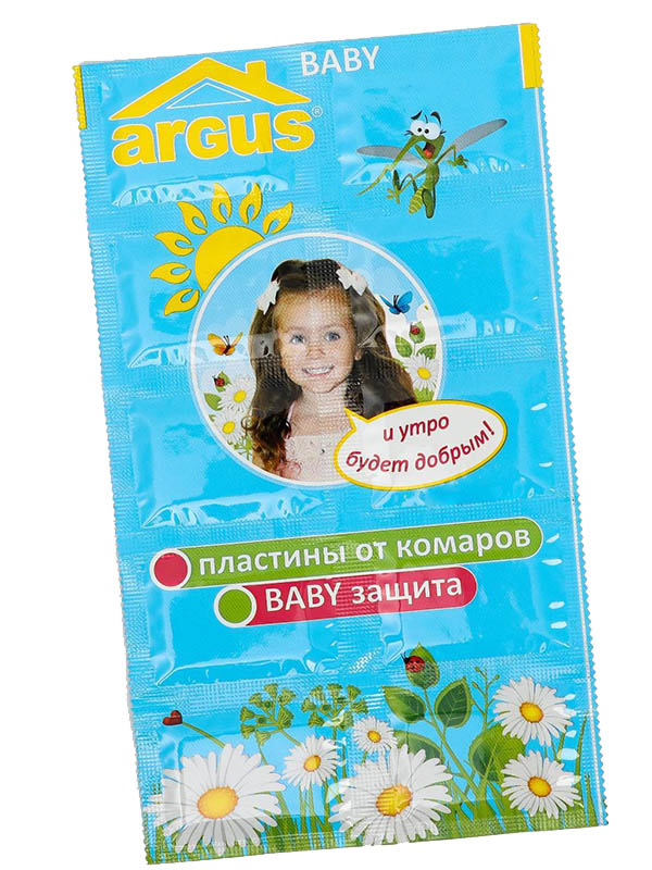 Средство защиты от комаров Argus Baby Пластины 10шт 1111679