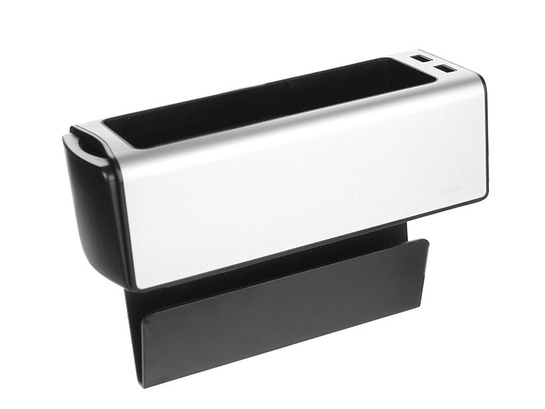 Аксессуар Baseus Deluxe Metal Armrest Console Organizer Silver CRCWH-A0S