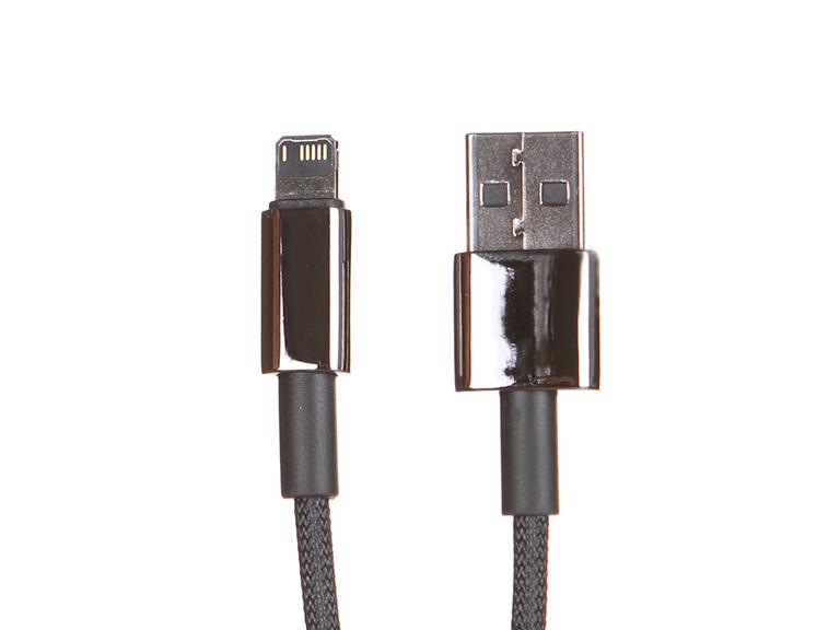 Фото - Аксессуар Baseus Tungsten Gold Fast USB - Lightning 2.4A 2m Black CALWJ-A01 аксессуар baseus glowing usb lightning blaсk callg 01