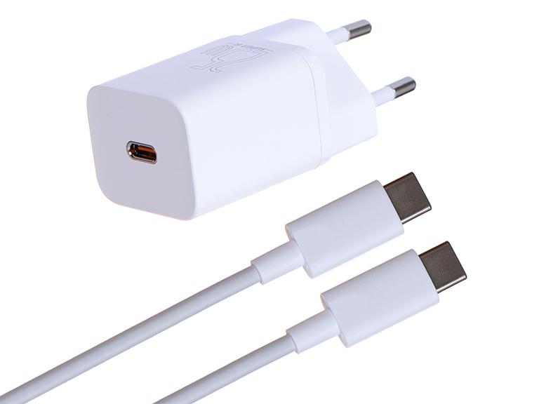 Зарядное устройство Baseus Super Si Quick Charger 1C 25W EU Sets + кабель Type-C 3A 1m White TZCCSUP-L02