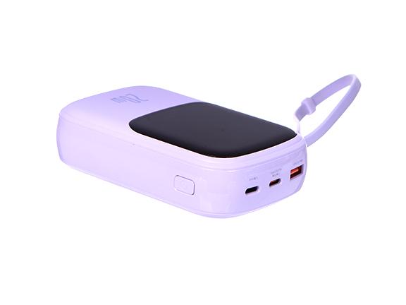 Внешний аккумулятор Baseus Power Bank Qpow Digital Display 20000mAh 20W Purple PPQD-H05