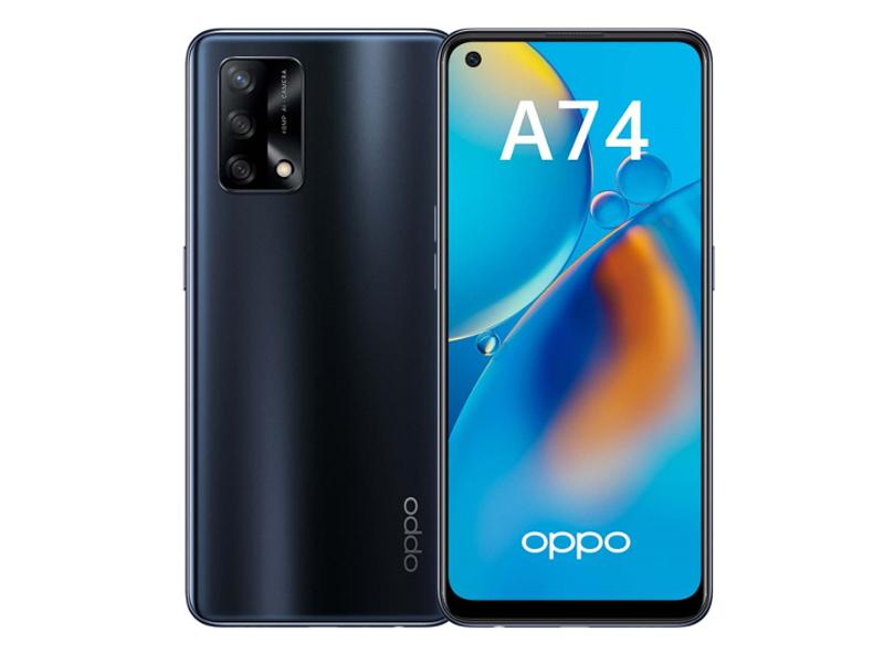 Сотовый телефон Oppo A74 CPH2219 4/128Gb Black Выгодный набор + серт. 200Р!!! сотовый телефон vsmart joy 3 4 64gb purple topaz