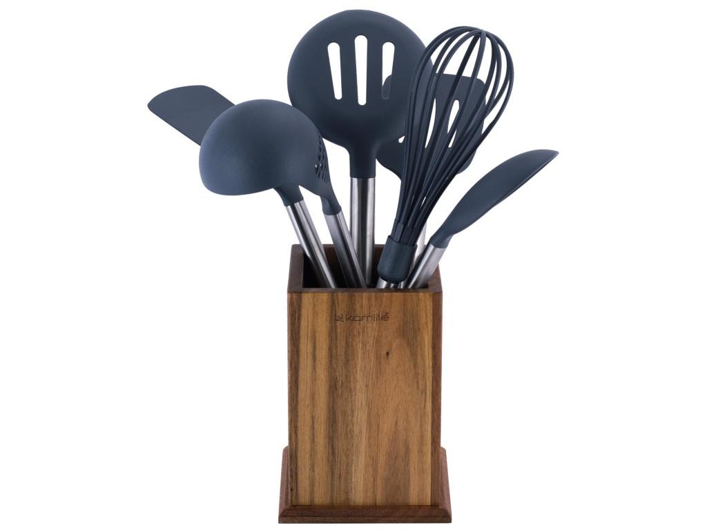 Набор кухонных принадлежностей Kamille 7 предметов 5034 набор кухонных принадлежностей 7 предметов из нержавеющей стали с позолотой