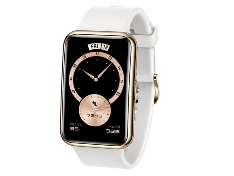 Умные часы Huawei Watch Fit Elegant Frosty White 55026300 Выгодный набор + серт. 200Р!!! умные часы huawei watch gt 2e hector b19c 46mm black mint 55025294 выгодный набор серт 200р