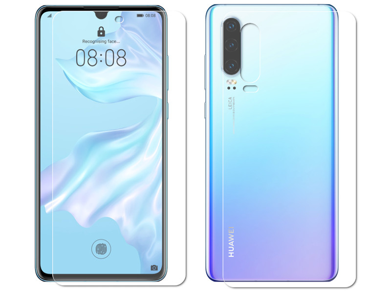 Гидрогелевая пленка LuxCase для Huawei P30 0.14mm Front and Back Matte 86308