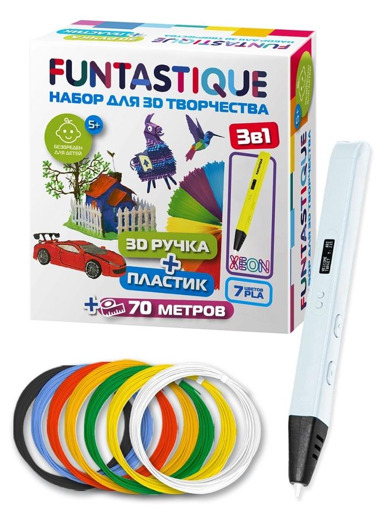 3D ручка Funtastique Xeon + PLA-пластик 7 цветов RP800A WH-PLA-7