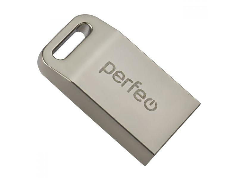 USB Flash Drive 64Gb - Perfeo M05 Metal Series + OTG Reader PF-M05MS064OTGR usb flash drive 64gb perfeo usb 3 0 c08 black pf c08b064