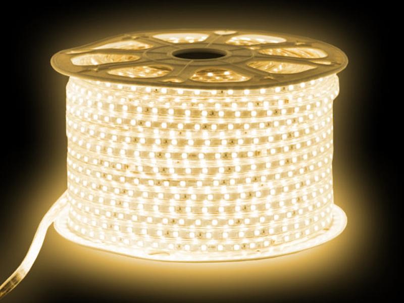 Светодиодная лента URM SMD 5050 60 LED 220V 14.4W IP67 3000K 10m White N02033